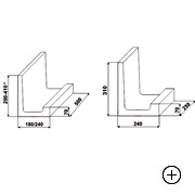 Kształtka wieńcowa typu L 22 [ 22x24x50 ] do stropu o wysokości konstrukcyjnej 15cm