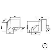 Kształtka wieńcowa – Narożnik zewnętrzny  L 27 [ 27x36x36]