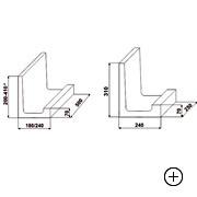 Kształtka wieńcowa typu L 31 [ 31x18x50 ]