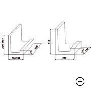 Kształtka wieńcowa typu L 37 [ 37x18x50 ]
