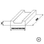 Kształtka wieńcowa typu C  7 [ 7x18x50 ]