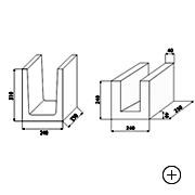 Kształtka wieńcowa typu U 24  [ 24x24x25 ]